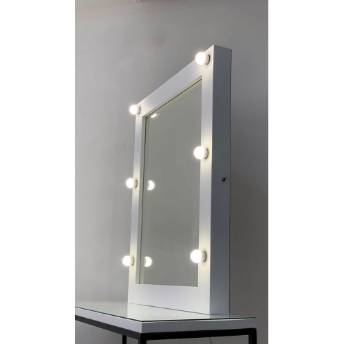 Гримерное зеркало с подсветкой 100х80 шесть ламп